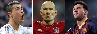 Ronaldo, Robben and Messi_Getty